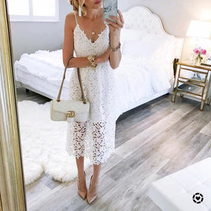 New Summer Women Flower Lace Dress - 64 Corp