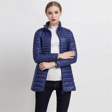 Johnature 2018 Winter Warm New Women Long Thin Down Jacket Slim Korean Stand Collar White Duck Down Zipper Long Coat S-4XL