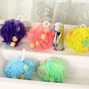Colorful Flowers Bath Ball Bath Towel Scrubber Body Cleaning Mesh Shower Wash Sponge Bath Product Tool - 64 Corp