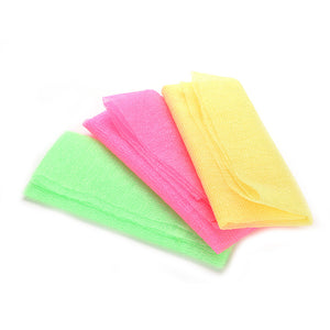 Exfoliating Nylon Scrubbing Cloth Towel Bath Shower Body Cleaning Washing Sponges Scrubbers Products Pink Green Yellow - 64 Corp