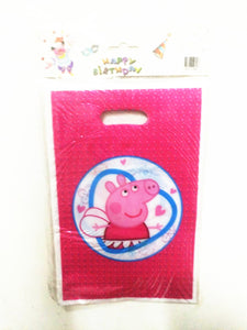 10pcs/lot cartoon peppa pig disposable plastic gift candy bag kids birthday party supplies baby shower loot bags about 16*26cm - 64 Corp