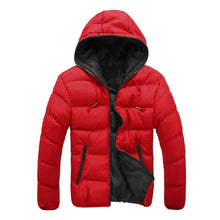 2018 New Luxury Men's Winter Jacket Fashion Red Parka Men Hooded Down Jackets Thick Warm Coats Winter Male Coat 3XL 50