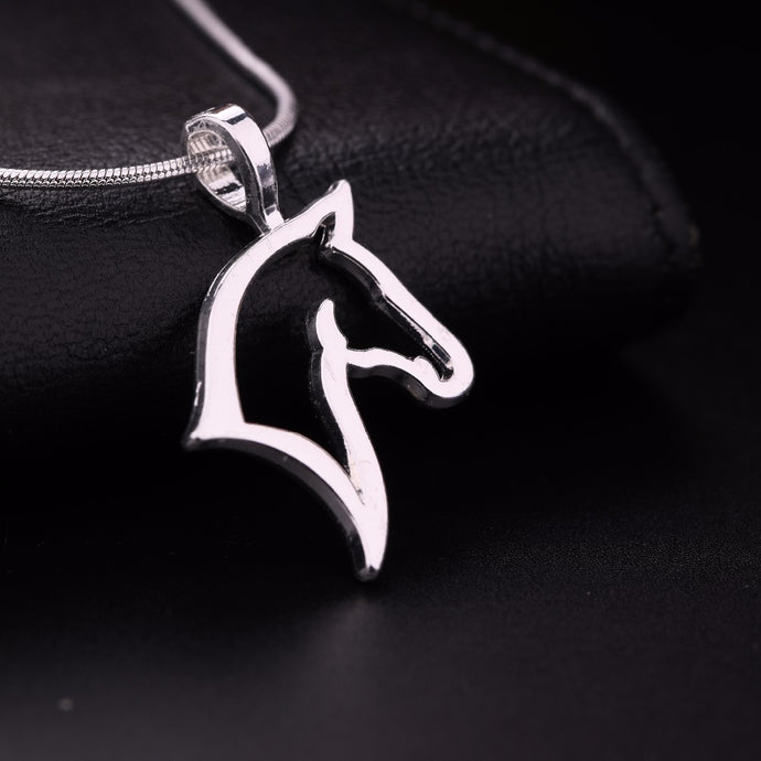 Teamer Horse Head Necklace Best for Cowgirl Teen Girls Equestrian Birthday Gift Jewelry - 64 Corp