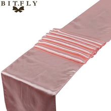 Free Shipping with High Quality 30cmX 275cm 1 piece Satin Table Runner Wedding Decoration 21 colors For Wedding&Festival Supplie