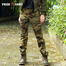 Free Army Brand Womens Pants New Camouflage Pantalon Femme Metal Zipper Metal Snap Buttons Pantalones Mujer GK-9372C - 64 Corp