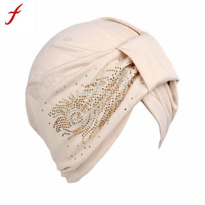 Feitong High Quality Soft Warm knitted hats Hot Sale 2017 Winter Women Ladies Boho Cancer Hat Beanie Scarf Turban Head Wrap Cap - 64 Corp
