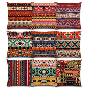 Boho Primitive Geometric Pattern Pillow Case - 64 Corp