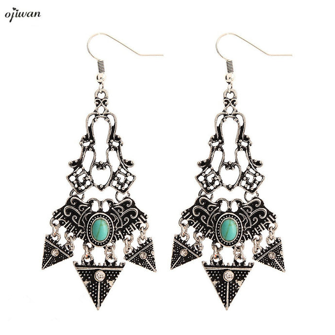 Bohemian Earrings Hippie Boho Aretes De Filigrana aritos Gypsy Chandelier Earrings Art Deco Native American Jewelry Navajo - 64 Corp