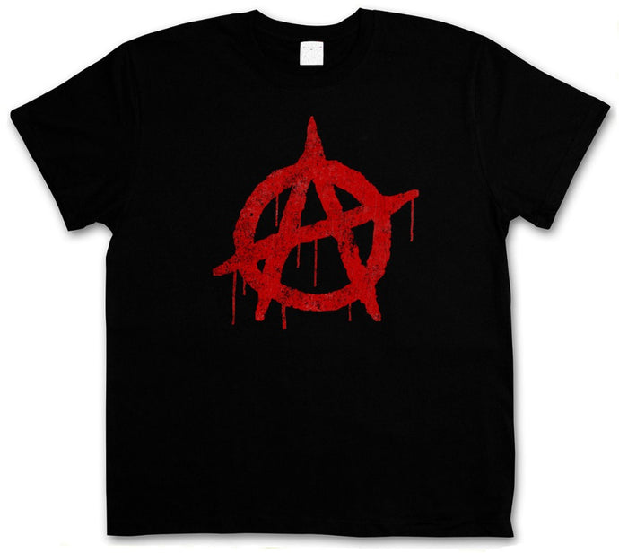 Summer Style Fashion  ANARCHY A VINTAGE LOGO T-SHIRT - Cyber Punk Gothic Rocker Symbol Sign T-Shirt Hip-Hop  Casual Clothing - 64 Corp