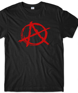 Brand Clothes Summer 2018 ANARCHY SYMBOL T-SHIRT - ANARCHIST PUNK ROCK EVIL ROCKER O-Neck T Shirt - 64 Corp