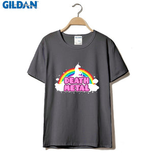 Fashion Funny Tops Tees Death Metal Rocker T Shirt Unicorn Death Graphic T Shirt Fashion Men T Shirt Clothing Printed Cotton Ma - 64 Corp