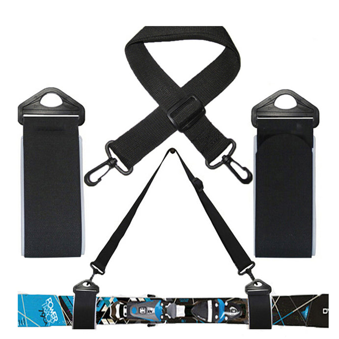 Ski And Double Cross Country Carrier Shoulder Sling Detachable  Nordic Holder Straps Belt Alpine For Ski board  Skis & Poles - 64 Corp