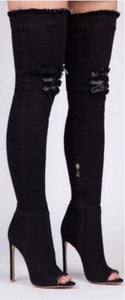 Cowgirl Runway Thigh High Boots - 64 Corp