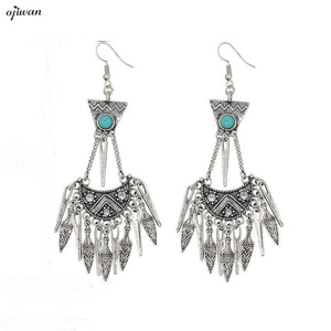 Brincos Hippie aritos Tribal Earrings Gypsy Cowgirl Crescent Moon Earring Boho Earrings For Women Indian Native American Jewelry - 64 Corp