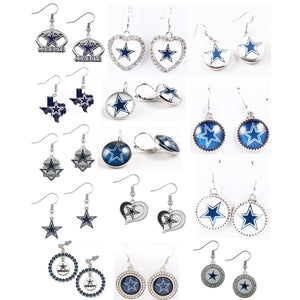 14 Designs American Football Team Dallas Cowboys Earrings Sports Fans Jewelry for Women Men Friendship Birthday Gift - 64 Corp