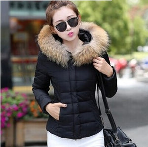 Thick Women cotton Coat with Hood Winter Hooded Down Jacket cold weather warm outwear coat fashion warm Overcoat For Women Coat - 64 Corp