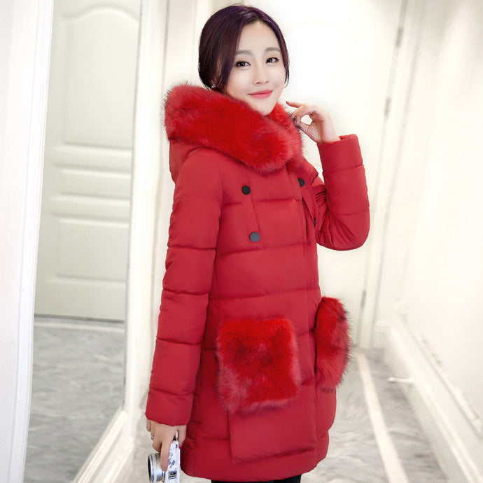 High Quality warm outwear coat for cold weather New Winter Collect Women cotton Coat Jacket Warm long cotton jacket warm jacket - 64 Corp
