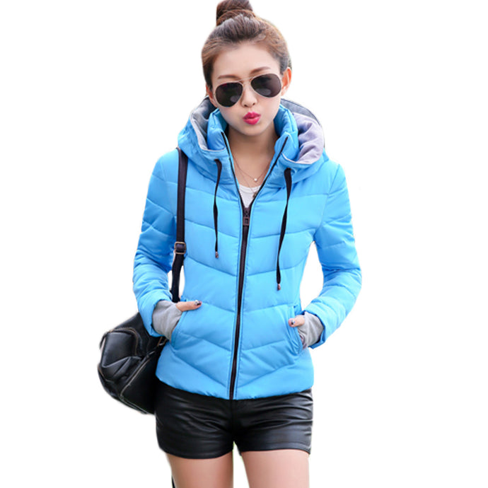 XXXL-Large Cold Wet Weather Women Ladies Winter Short Warm Thick Parka Jacket Coat Drawstring Stand Collar without Hoodie XH515 - 64 Corp