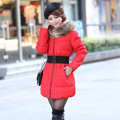 Cold weather winter warm down Cotton Coat jacket Women fashion Long down jacket Coat Warm Thick Outwear Coat Jacket Windbreaker - 64 Corp