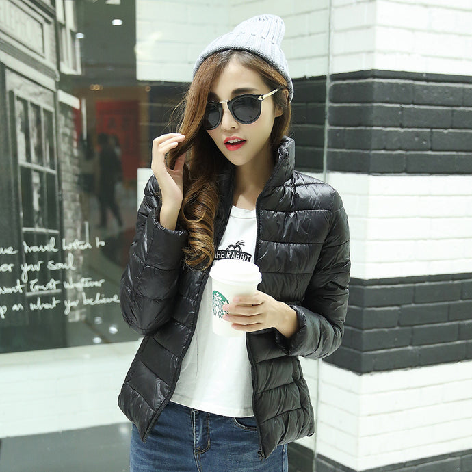 Women cotton coat fashion super thin warm coat jacket slim women coat jacket in cold weather spring autumn coat winter outwear - 64 Corp