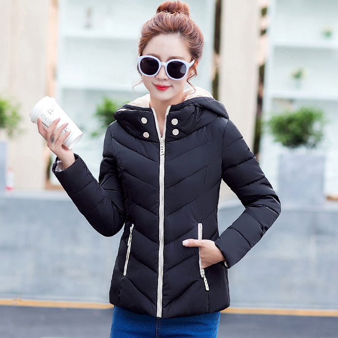 Fashion warm coat jacket thin Hooded women jacket coat for cold weather winter autumn spring coat jacket for warm outwear coat - 64 Corp