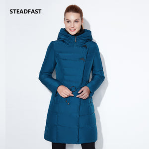 STEADFAST Women's winter models cotton coat coats down jackets long models with hats fashion warmth cold weather wind park - 64 Corp