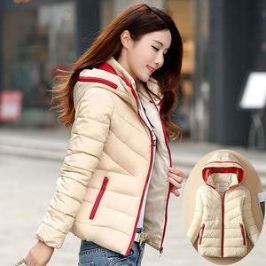 Fashion women warm jacket coat Slim hooded warm women jacket coat outwear Women Light Thick Winter coat jacket for cold weather - 64 Corp