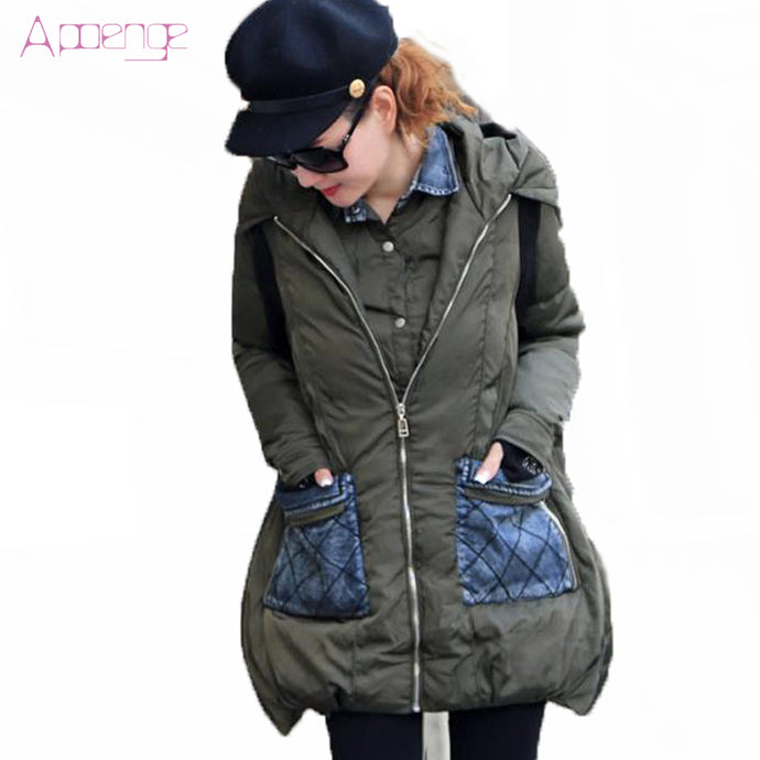 APOENG Winter Jackets For Women 2017 New Hooded Coats Female Hooded Coat Causal Wadded Cotton Jacket Warm Overcoats LZ439 - 64 Corp