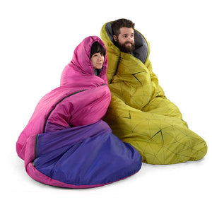 Pie-type Winter Adult Single Thermal Sleeping Bag 0-5 degrees centigrade Outdoor Camp Hiking Tent - 64 Corp