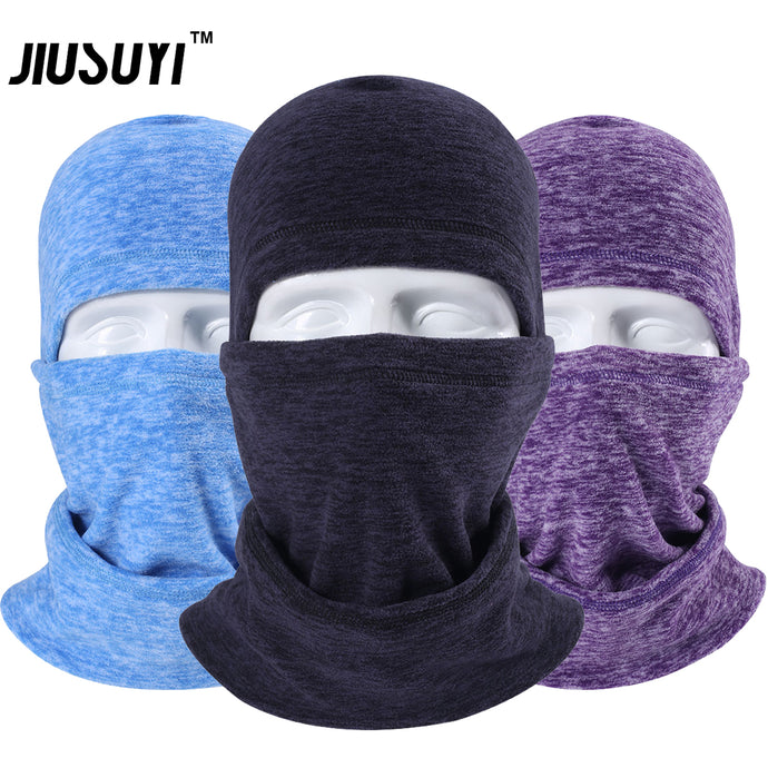Cold Weather Windproof Winter Fleece Wool Thermal Balaclava Neck Warmer Full Face Mask Beanies Snowboard Bicycle Hats Men Women - 64 Corp