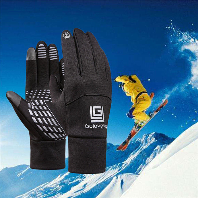 Outdoor Cycling Winter Warm Cold Weather Gloves Waterproof Windproof Full Finger Men Women Gloves For Climbing Riding Camping - 64 Corp