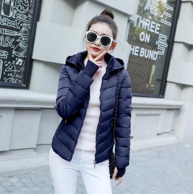 Jackets & Coats Hospitable 2019 Autumn Basic Jacket Women Plus Size Womens Parkas Thicken Outerwear Solid Hooded Coats Short Female Slim Cotton Padded Tops