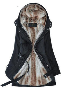 Two Way Wear Fur Coat Parka
