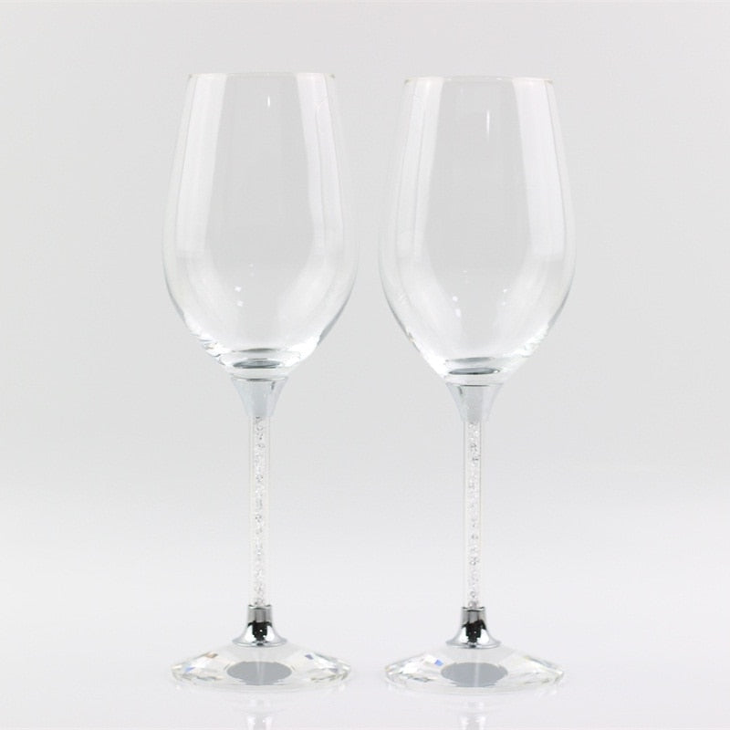 new design customed crystal toasting glasses stemware wedding wine glass anniversary gifts party celebration drinking goblet cup