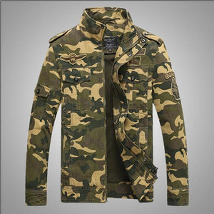 High quality 2018 casual embroidery mens jacket outerwear Classics Men Military Army Style coats plus size M-6XL Brand clothing