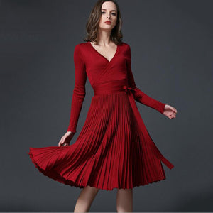 Sophisticated New Women's Solid Elegant Party Dress - 64 Corp