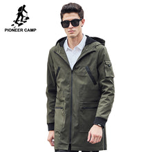 Pioneer Camp 2018 new trench coat men brand clothing Top Quality male long army green trench coat windbreaker jacket  611315