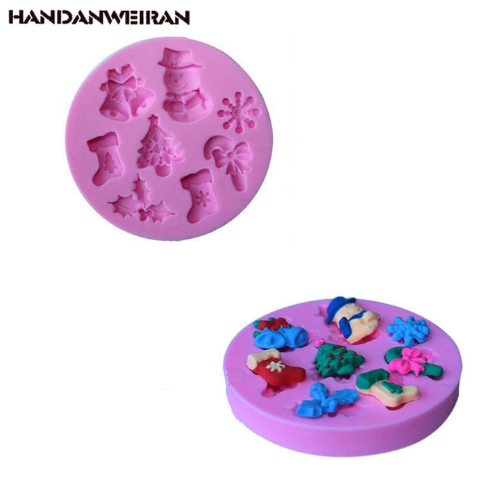 nowman snow cake mold Christmas series silicone mold hand soap decorative mold