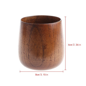 Wooden Cup Primitive Handmade Natural Wood Coffee Beer Juice Milk Tea Mug Must-have durable Drinkware