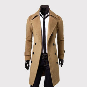 af6f61a7c59 Mens Trench Coat 2018 New Fashion Designer Men Long Coat Autumn Winter  Double-breasted Windproof