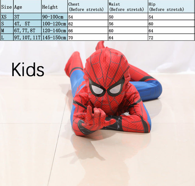 Amazing High Quality Spider-man Spiderman Homecoming Cosplay 2018 Civil War Spider Man Suit Halloween Costumes Men Adult Fancy