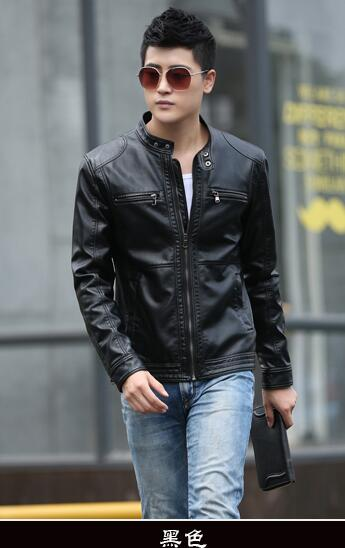 Leather Jacket Men Design Stand Collar Male Casual Motorcycle Leather Jacket Mens Fashion Veste en cuir genuine jackets jaqueta