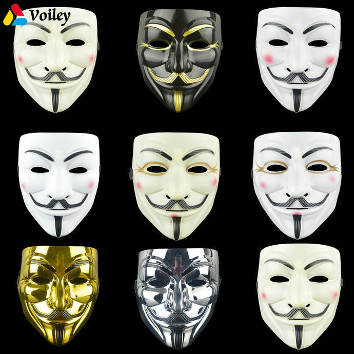 1PCS 8 Style Party Masks V for Vendetta Mask Anonymous Guy Fawkes Fancy Adult Costume Accessory Party Cosplay Halloween Masks,7
