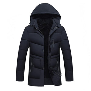 MIACAWOR New 2018 Men Jacket Coats Thicken Warm Winter Jackets Casual Men Parka Hooded Outwear Cotton-padded Jacket J468