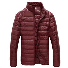 2018 New Men Winter Jacket Ultra Light 90% White Duck Down Jackets Casual Portable Winter Coat for Men Plus Size Down Parkas