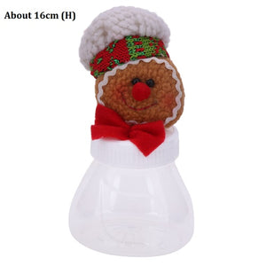Christmas Candy Storage Can Xmas Decorations for Home Gift Biscuit Casual Food Storage Jar Christmas Window Ornament Acc
