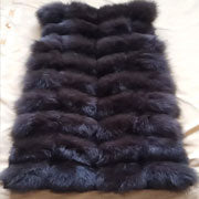 New style natural fox fur round collar lady fur vest Factory direct sales Can be customized QD.YISHANG