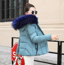 Winter Jacket Women Parkas for Coat Fashion Female Down Jacket With a Hood Large Faux Fur Collar Coat 2018 Autumn high quality