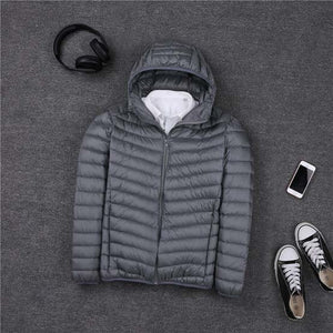 2019 Winter Plus Size 90% White Duck Down Coat Men Hooded Ultra Light Down Jacket Male Windproof Warm Parka S- 7XL
