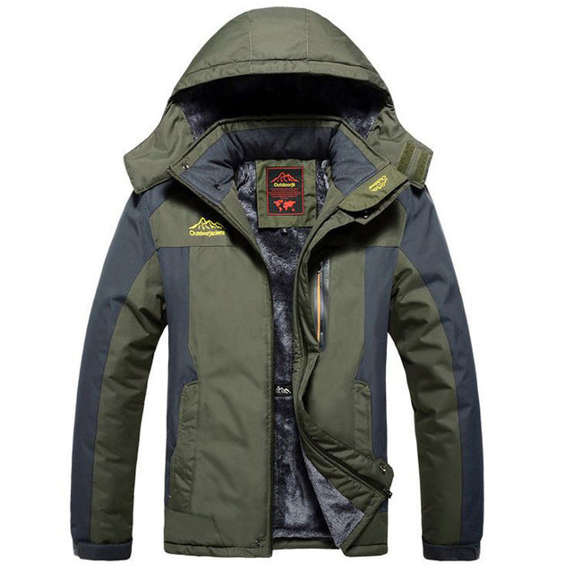 Winter Fleece Military Jackets Men Windproof Waterproof Outwear Parka Mens Windbreaker Army Raincoat Coat Plus Size 9XL Overcoat